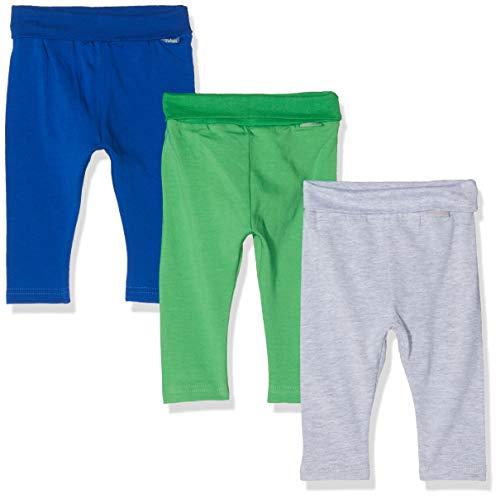 Playshoes Baby-Leggings Blau-Grã¼n-Grau Im 3er Pack, Azul (Sortiert 999), 62 (Talla del Fabricante: 62/68) 3 para Bebés