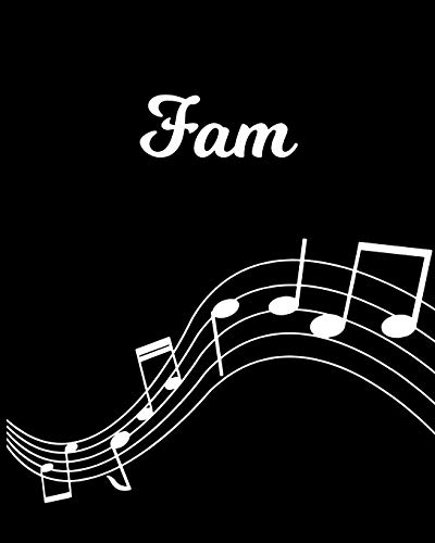 Fam: Sheet Music Note Manuscript Notebook Paper | Personalized Custom First Name Initial F | Musician Composer Instrument Composition Book | 12 Staves ... Guide | Create Compose & Write Creative Songs