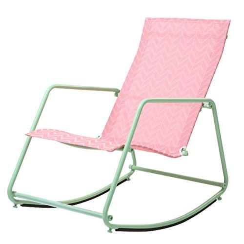 YLLXX Chaise Berçante Nordique Adulte Déjeuner Intérieur Pause Moderne Simple Salon Paresseux Chaise Salon Sieste Chaise Berçante Balcon Fauteuil (55 * 80 * 78 Cm)