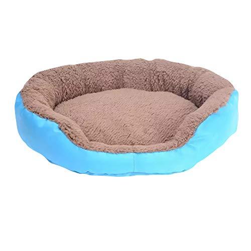 Cesta para Mascotas de Felpa 4 Colores Diferentes y 3 tamaños - Lavable y Resistente a los arañazos casa para los Perros y Gatos (Style 1, M)