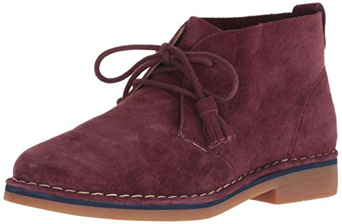 Hush Puppies Women's Cyra Catelyn Ankle Boot, Dark Wine Suede, 6 M US