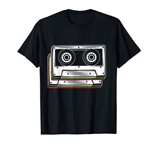 Disfraz de cinta de cassette 80s 90s Retro Camiseta
