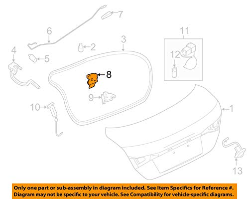 Genuine Nissan Parts - Lock Assy-Trunk Lid (84630-3SG0A)