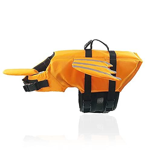 JYOKK Chaleco Salvavidas para Perro con Relleno Extra de Seguridad Protector de Traje de baño Reflectante Ajustable Salvavidas Chaleco Flotador para Mascota arnés de natación