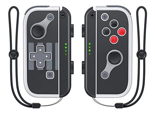 Vivefox Joy Pad Controller for Nintendo Switch, Replacement for Switch Joycon with Wrist Strap Grip Stand, Support Wake Up, Alternatives Joy Controller for Switch & Lite Controllers, Classic NES Style