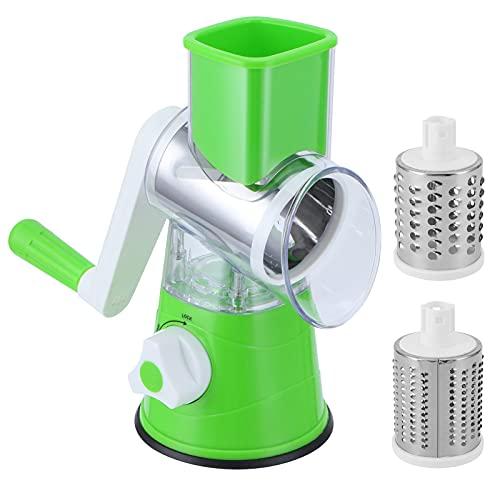 Jopwkuin Picadora de Alimentos, para Varias Cuchillas Trituradora de Verduras Manual Conservante Ligero para Cocina para el hogar(Green)