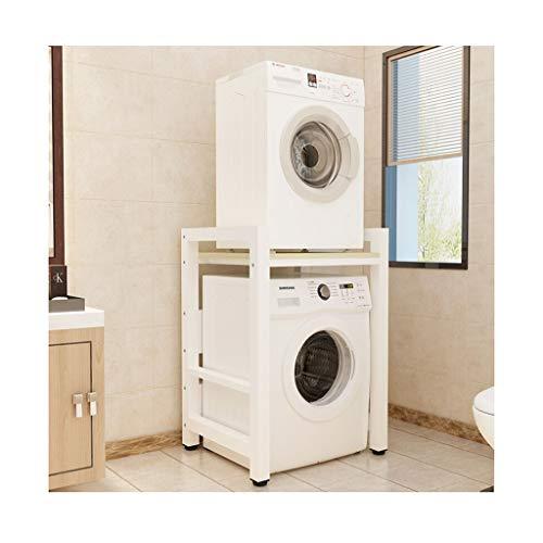 QSJZ Kitchen Storage Shelf Double-layer Washing Machine Rack Dryer Dishwasher 2 Stacking Shelves Bathroom Space Saver organisation (color : B)