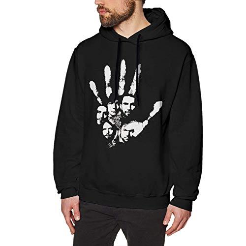 Homme Sweats à Capuche, Sweat-Shirt à Capuche, Adam Levine Men's Hoodie Sweatshirt Heavyweight Casual Long Sleeve Tshirt