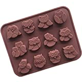 XHLJ 5pcs / Set De Silicona Chocolate Moldes Antiadherentes del Molde del Chocolate Libre De BPA De Silicona Molde De Pastel De Jabón Moldes De Bricolaje