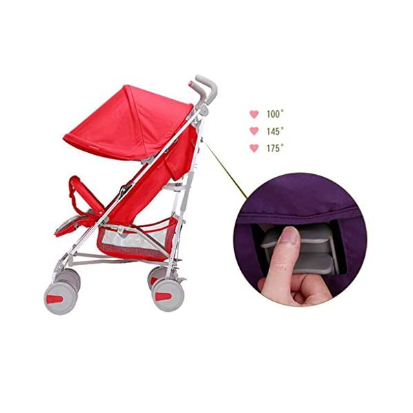 BHDesign Baby Stroller Can Sit Horizontal Portable Folding 4 Wheel Suspension Umbrella Car Travel Four Seasons Universal One Key Folding BHDesign 1. One-click folding, easy to operate 2. One foot double brake, 360° front wheel, shock absorber system 3. Backrest stepless adjustment, adjustable awning 3