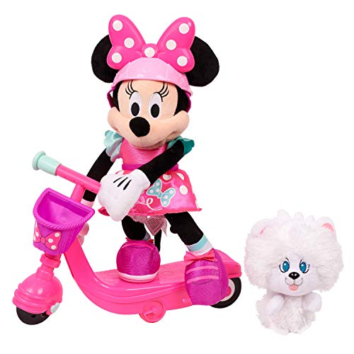 """Minnie Helper Scooter 13"""" Feature Plush Now $17.99 (Was $39.99)"""