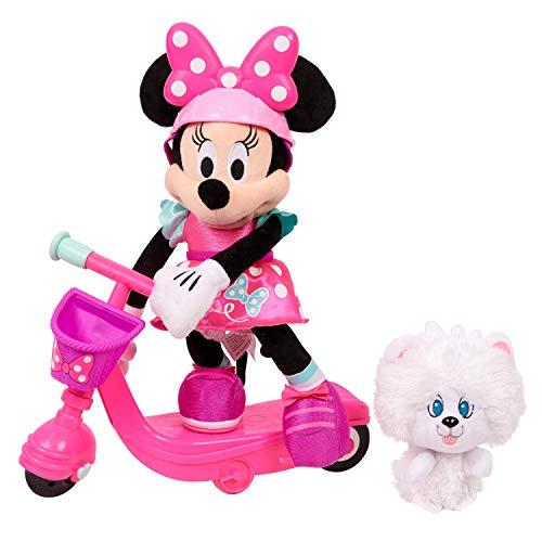 "Minnie Helper Scooter 13"" Feature Plush - Brown Mailer"