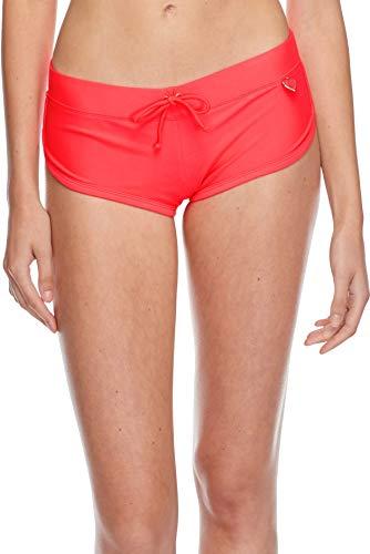Body Glove Women's Smoothies Sidekick Solid Sporty Bikini Bottom Swimsuit Short, Diva, Large