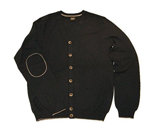 Boss Black Gerson Modern Essential Cardigan en tricot Bleu 402 - Bleu - M