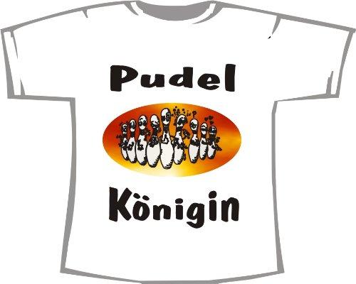 Pudel Königin; Kegeln T-Shirt weiß, Gr. XL