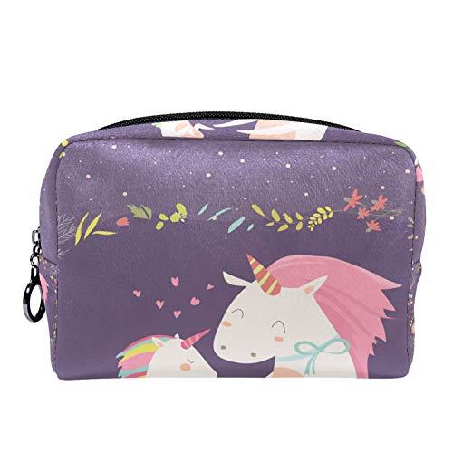 Cosmetische tas reizen toilettas voor vrouwen dagelijkse draagbare ritssluiting make-up tas,Baby eenhoorn liefde mama