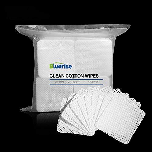 BLUERISE 500Pcs Nail Pliosh Remover Wipes Cotton Cotton Soft Lint Free Nail Wipes Nail Polish Remover Pads Absorbable