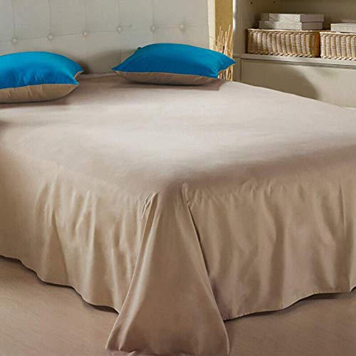 KELITINAus - Sábanas de cama absorbentes, transpirables y transpirables que absorben la humedad, sábana encimera de polialgodón, 120 x 220 cm, color caqui, 120 x 220 cm