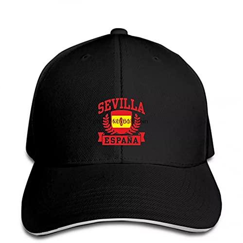 MWLSW Clásico Gorra de béisbol Sevilla España Snapback Hat Peaked Regalos Deportivos Aire Libre para Amantes Hip-Hop