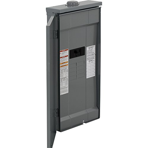 Square D by Schneider Electric HOM816M150PFTRB Homeline 150 Amp 8-Space 16-Circuit Outdoor Main Breaker Load Center with Feed-Thru Lugs (Plug-on Neutral Ready),