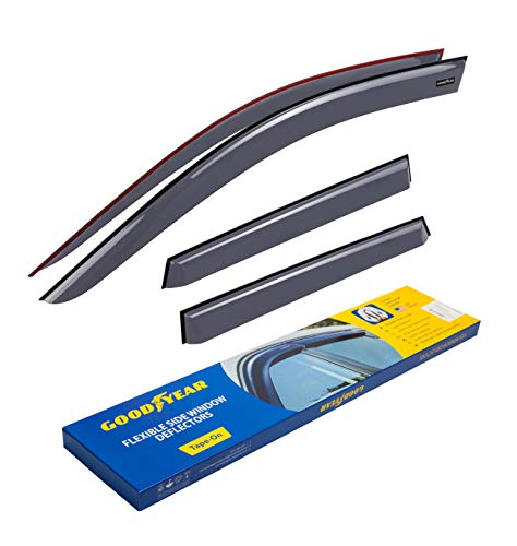 Goodyear Side Window Deflectors for Mitsubishi Outlander Sport 2011-2020, Tape-on Rain Guards, Window Visors, 4 Pieces - GY003155