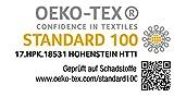 Hometex Premium Textiles Exclusive Spannbettlaken Spannbetttuch bis 25 cm Steghöhe | Bettlaken 100% Baumwolle | 160 g/m² | ÖKO-TEX Standard |(120-130x200 cm | Steghöhe bis zu 25 cm, Silber) - 4