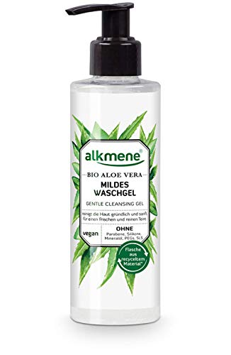 alkmene Waschgel mit Bio Aloe Vera - milde Gesichtsreinigung für alle Haut Typen - vegane Gesichtspflege ohne Silikone, Parabene, Mineralöl, PEGs, SLS & SLES (1x 180 ml)