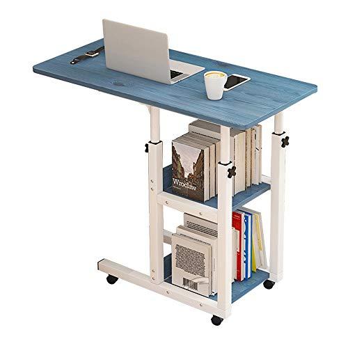 KIKIRon Laptopständer Computer-Schreibtisch Höhenverstellbarkeit Computer-Schreibtisch Wagen Laptop-Schreibtisch for Bett, Sofa, Schreibtischaufsätze (Farbe : Blau, Size : 60x40cm)