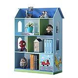 WODENY Bibliothèque de Maison de poupée pour Enfants en Bois étagère à Livres étagère pour Enfants étagères de Maison présentoirs Organisateur Bleu