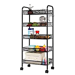 Landria 5-Tier Rolling Storage Cart Review - Best Classroom Rolling Carts