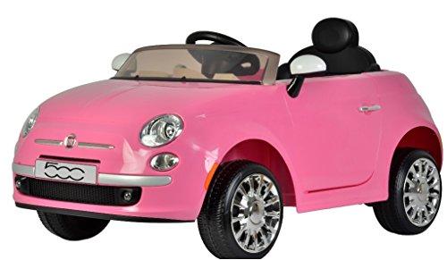 auto elettrica per Bambini Fiat 500 Rosa