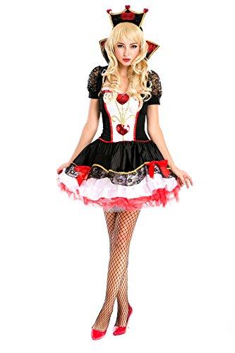 Alice im Wunderland Kostüm PAILLETTENHERZ 34/36 (38)