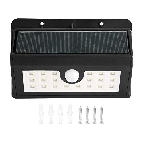 PIR Sensor de movimiento luz, interruptor de tres velocidades impermeable 20 LED luz solar, para jardín al aire libre