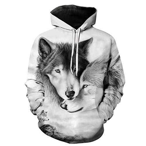 TLLW Unisex-Sweatshirt, hässlich, 3D-Druck, langärmelig, für Paare, Hoodies, Übergröße, S-6XL Gr. XXXXXX-Large, F009