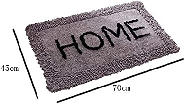 Letter Home Carpet, Plush Material Entry Mat, Entrance Hall Carpet, Foot Mat Multi Specification CQQO (Color : D, Size : 45×7