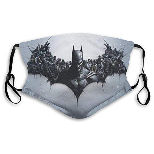 Mundschutz Black Batmans Face Cover Mouth Cover for Adult Polyester DustProof Waterproof Breathable Washable Reusable Outdoors