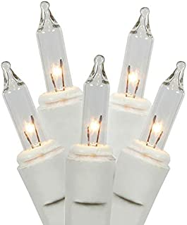Holiday Essentials Ultra-Brite Clear White Lights with White Wire - Indoor / Outdoor Use - UL Listed (Set of 100)