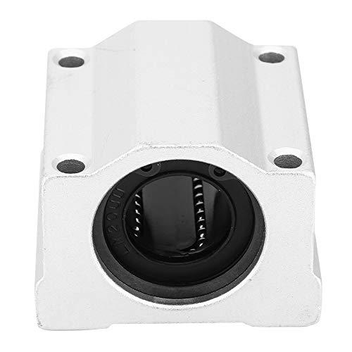 Aluminum Block, Linear Motion Ball Bearing, 20mm 2Pcs 3D Printer Slide Block for Transmission Device High Precision Equipment Construction Machinery 3D Printer