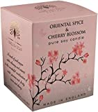 The English Soap Company, Oriental Spice and Cherry Blossom Soy Wax Candle, 170mls
