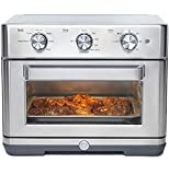GE Mechanical Air Fryer Toaster Oven + Accessory Set | Convection Toaster with 7 Cook Modes | Large Capacity Oven - Fits 12' Pizza | Countertop Kitchen Essentials | Stainless Steel