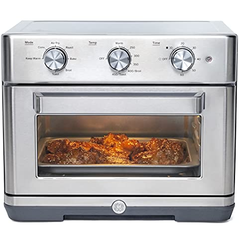 """GE Mechanical Air Fryer Toaster Oven + Accessory Set 