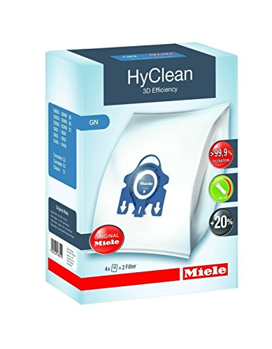 Miele 2 Boxes GN HyClean 3D Efficiency Dust Bags to fit Classic/Complete / S2000 / S5000 / S8000 Series