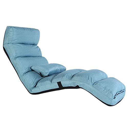 NXYJD Lazy Sofá, Sofá Plegable Dormitorio Simple, Balcón Mirador Pequeña Silla de salón, Azul