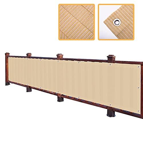 YJSMB Toldo Sombra, Malla Sombra Balcón Intimidad Pantalla Cubrir Malla Parabrisas Protección UV para La Terraza del Patio Trasero, Patio, Balcón, Valla (Size : 0.9x5m/2.95x16.4ft)
