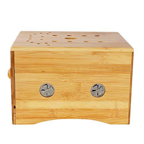 Qjifangyizi Hocker, Holz Moxibustion Box Stuhl Gynäkologie Palace Cold Fumigation sitzen geraucht Haushalt Sitz