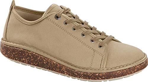 BIRKENSTOCK Santa Cruz Sandbeige Schuhe Frau Schnürsenkel Stoff Turnschuhe 38