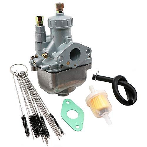 Dokili Vergaser 16mm 16N1-11 für Simson S50 S51 S53 S70 KR51/2 ZT Tuningvergaser, Vergaser Carbon Reiniger Kit & Kraftstofffilter Dichtung