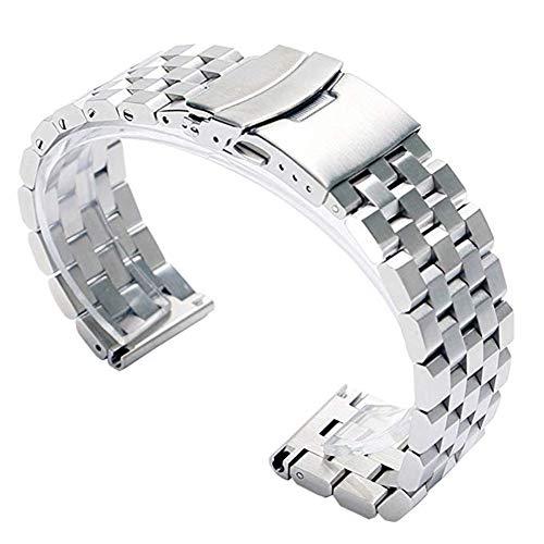 Cinturino per orologio da polso FASIOU, in acciaio inox, 2 cm, con chiusura...
