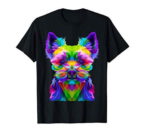 Colorido perro Yorkshire terrier, propietario de Yorkshire Camiseta