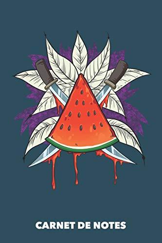 Carnet de Notes: Tranche de melon A5 pointillé / grille de points - 120 pages pour les gens à la mode (bleu marine)